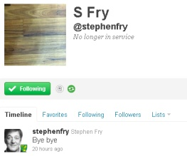 Stephen Fry has worst weekend ever