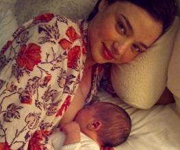 Orlando and Miranda have (obscenely attractive) baby