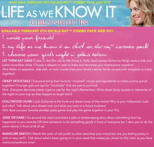 Life as we know it party ideas
