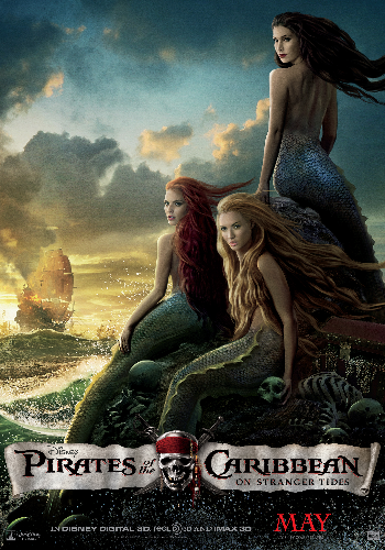 Pirates 4: new poster gets all fish-sexy