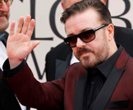 Ricky Gervais tones it down for the 2012 Globes