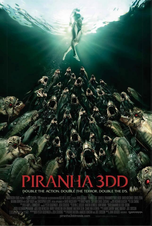 New Piranha 3DD posters are lamentably boob-free