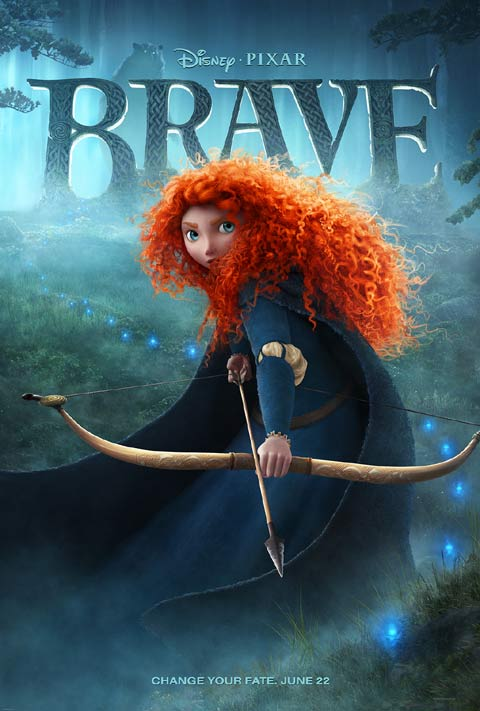 New poster for Pixar's Brave