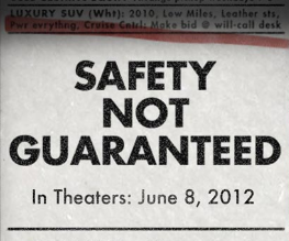 First trailer and poster for Safety Not Guaranteed