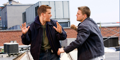 Leonardo DiCaprio and Matt Damon in The Departed