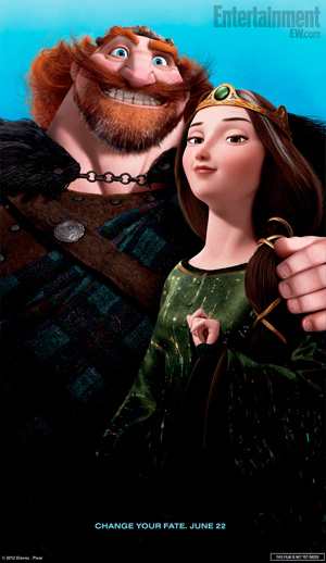 Emma Thompson and Billy Connolly in Brave