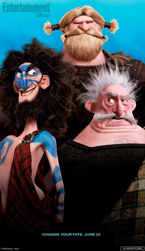 Kevin McKidd, Craig Ferguson and Robbie Coltrane in Brave