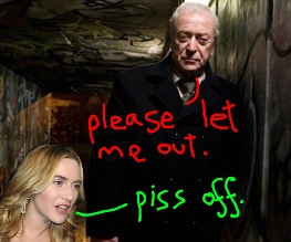Kate Winslet fails to save Michael Caine from disused theatre attic