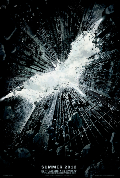 The new Dark Knight Rises poster uses Colouring In
