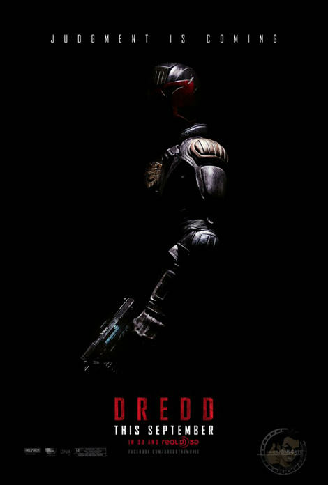 First poster for Judge Dredd now online