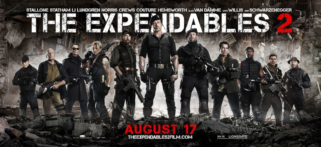 Expendables 2 is not only a real film, but has a poster