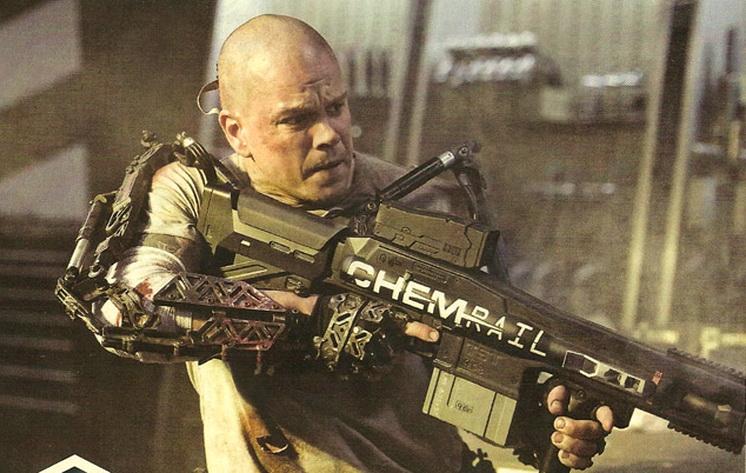 First photo released of Matt Damon in Elysium