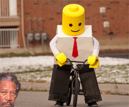 Morgan Freeman lending his dulcet tones to Lego: The Piece of Resistance