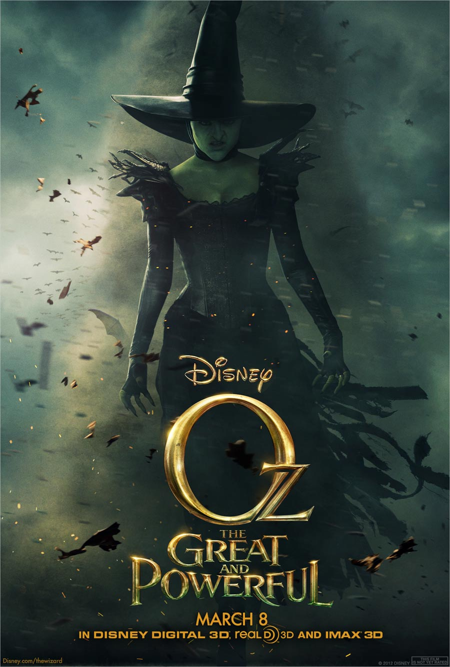Oz: The Great and Powerful poster is a little intimidating