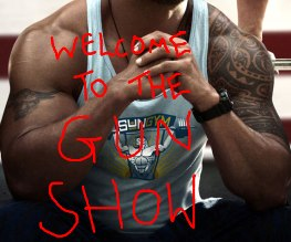 The Rock and Marky Mark in a guntastic Pain & Gain poster
