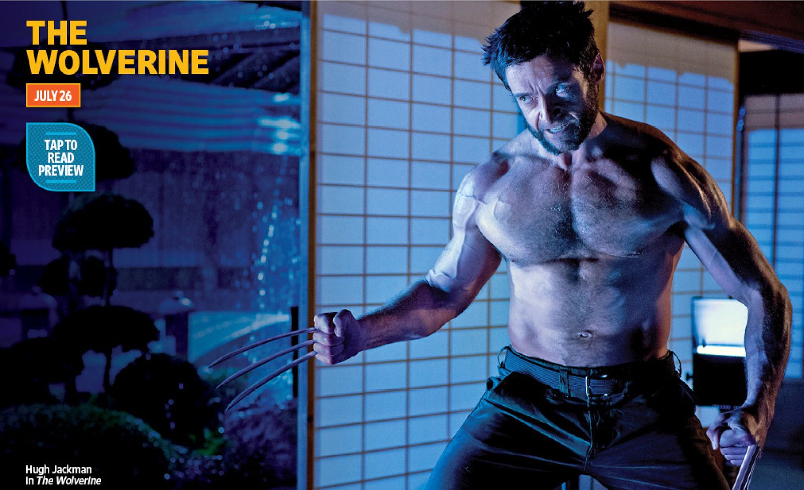 Hugh Jackman in new image from The Wolverine