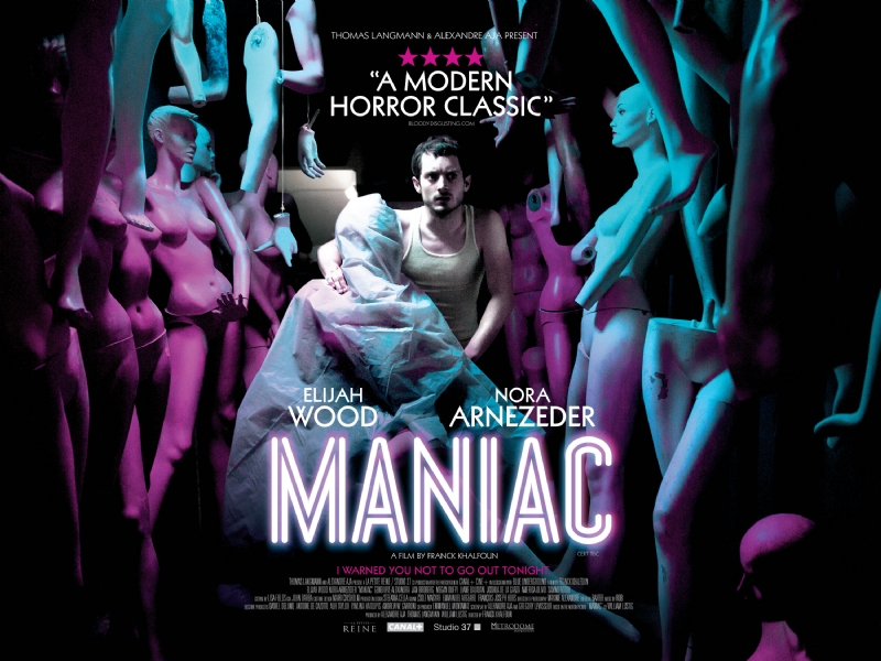 Maniac poster featuring mad bad Frodo