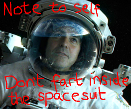 Gravity teaser trailer is rather obnoxious