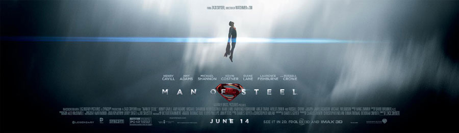 Man of Steel gets new banner poster